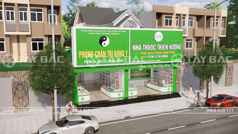 mặt tiền biển quảng cáo nhà thuốc Thiên Hương