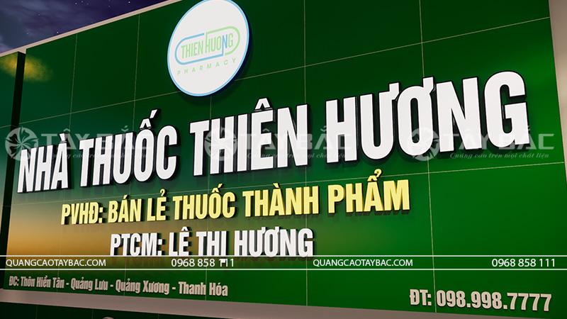 Bộ chữ phát sáng buổi tối nhà thuốc Thiên Hương