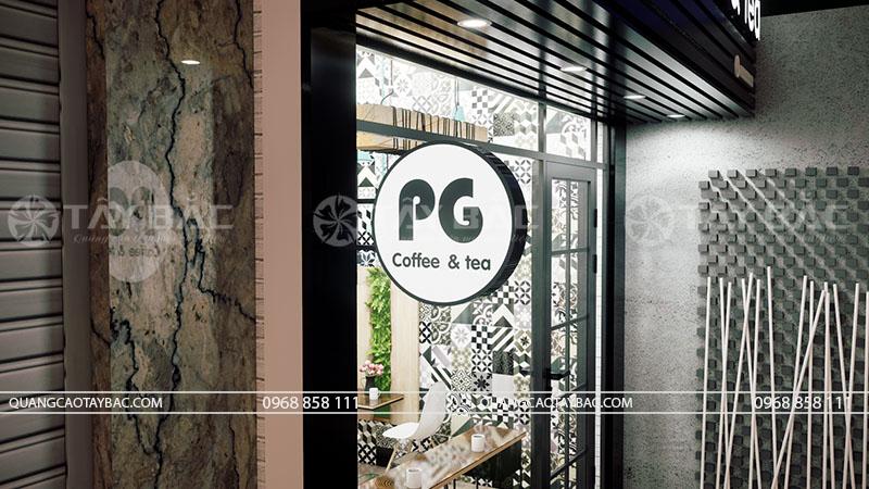 Biển vẫy tròn sử dụng trong biển hiệu coffee PG