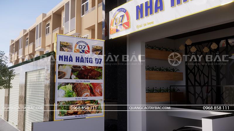 Biển quảng cáo nhà hàng D7