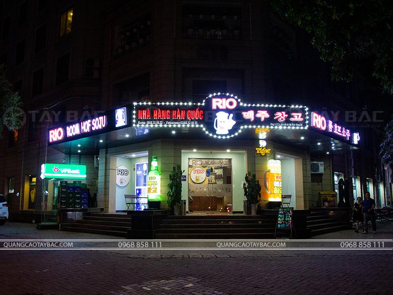Biển quảng cáo nhà hàng hàn quốc