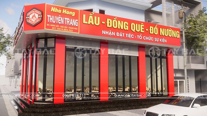Biển hiệu quảng cáo lẩu nướng Nguyên Trang