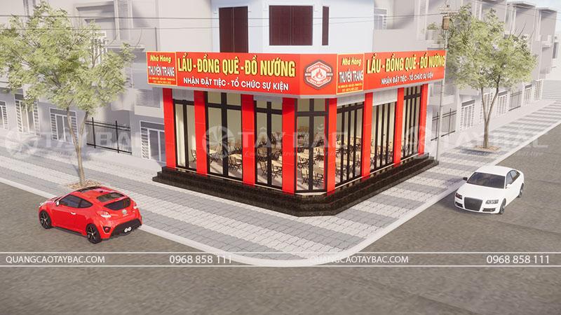 logo biển hiệu nhà hàng Nguyên Trang