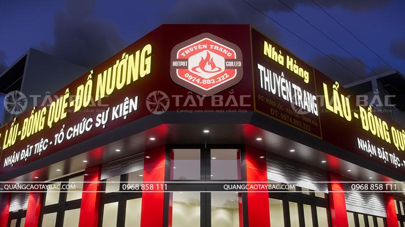 bộ chữ và logo Nguyên Trang  gắn led siêu sáng