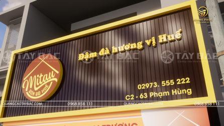 Biển quảng cáo nhà hàng Mi Tau