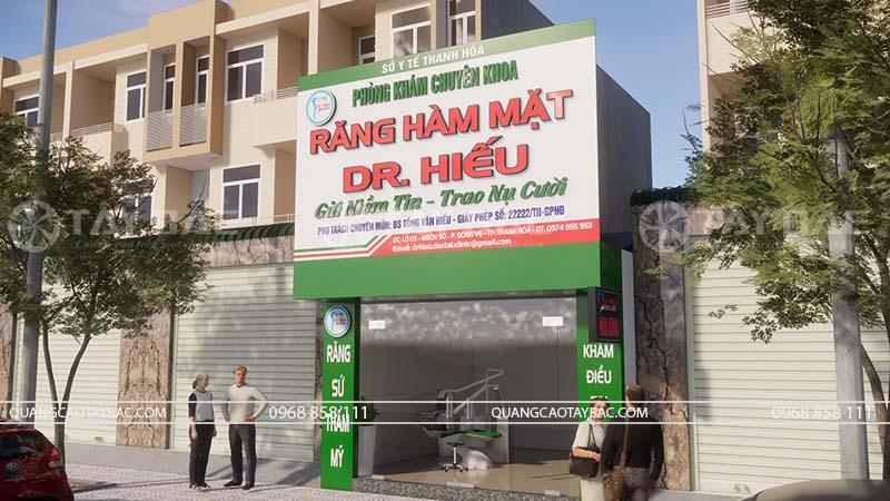 Biển quảng cáo phòng khám nha khoa Hiếu
