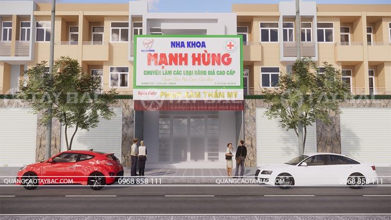Biển quảng cáo nha khoa Mạnh Hùng