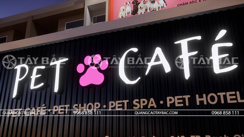 Phối cảnh buổi tối Pet Cafe