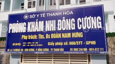 Biển quảng cáo phòng khám nhi Đông Cương