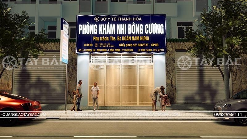 Phối cảnh biển quảng cáo phòng khám Đông Cương