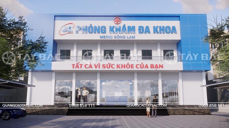 Biển quảng cáo phòng khám Sông Lam