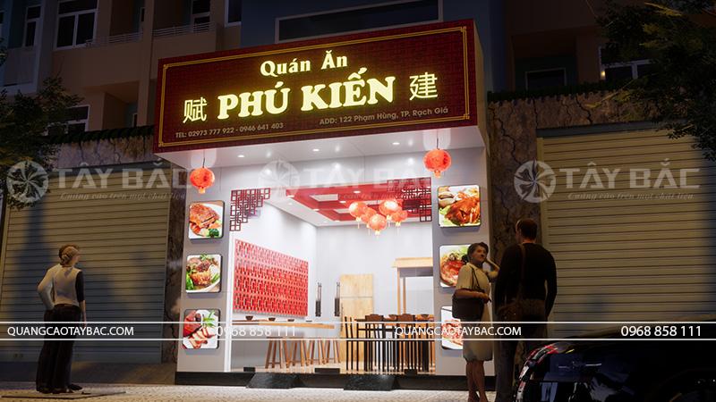 Phối cảnh biển quán ăn Phú Kiến