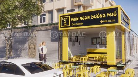 Một góc phối cảnh khác cửa hàng trà chanh
