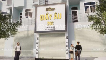 Biển quảng cáo shop Giầy Âu