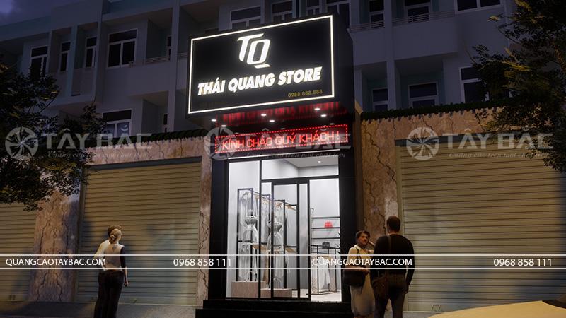 Biển quảng cáo shop quần áo Thái Quang