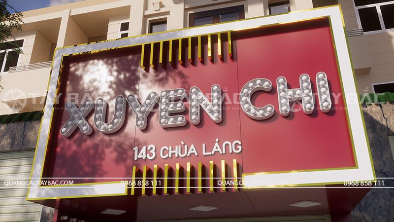 Góc chụp cận bộ chữ sử dụng trong shop thời trang Xuyến Chi