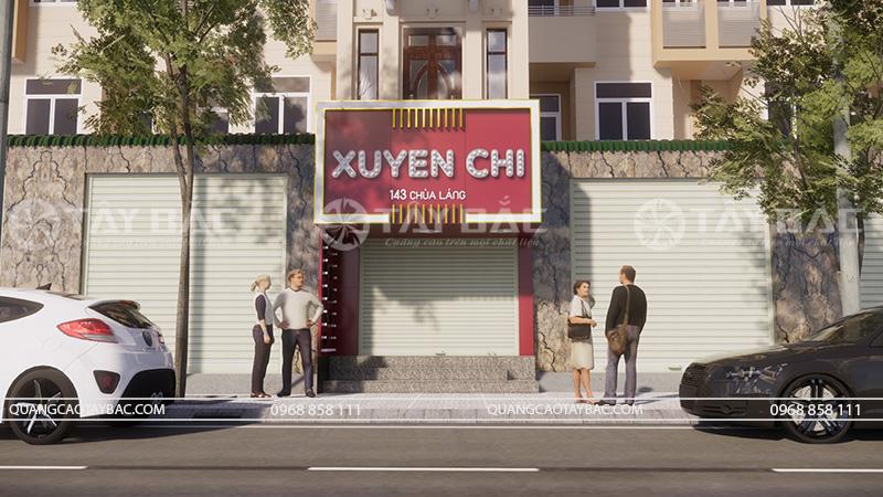 Mặt tiền biển quảng cáo shop thời trang Xuyến Chi