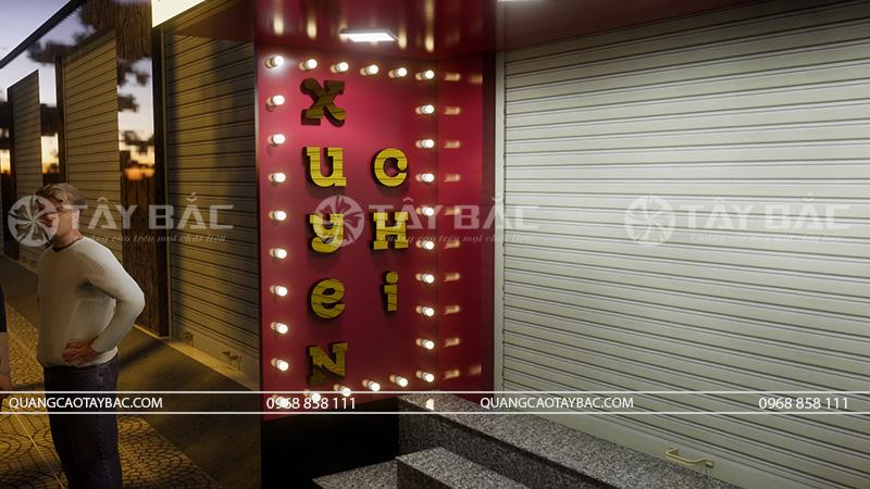 Bộ chữ nổi bên hông biển hiệu thời trang Xuyến Chi