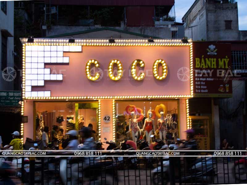Biển quảng cáo shop thời trang Coco
