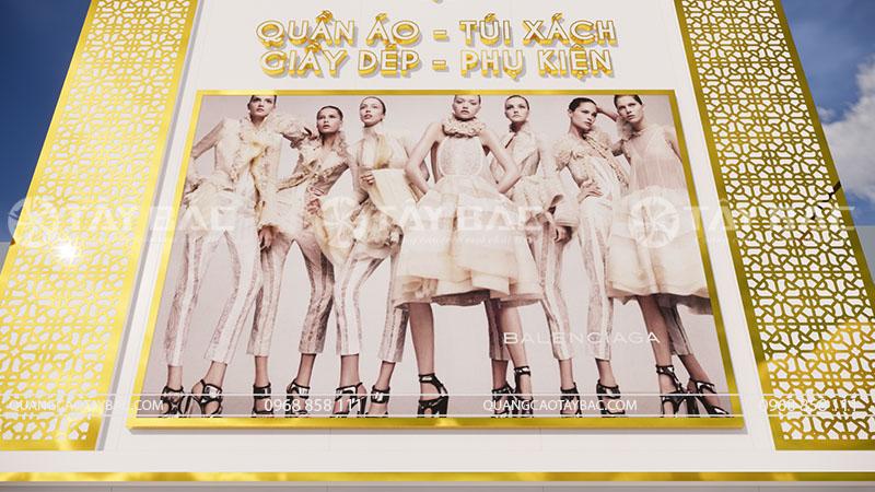 Biển quảng cáo shop quần áo Kelly sử dụng biển hộp đèn 3M