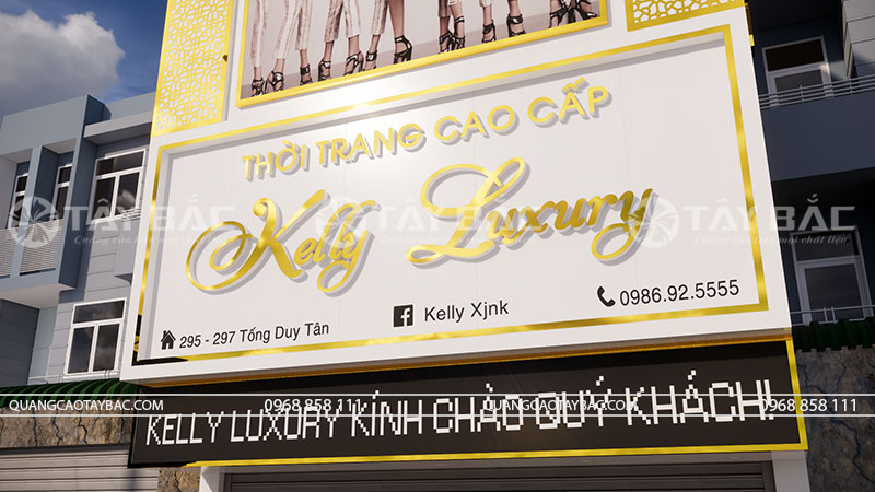 Bộ chữ inox vàng gương kelly Luxury