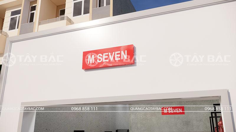 Mẫu biển quảng cáo shop thời trang M Seven