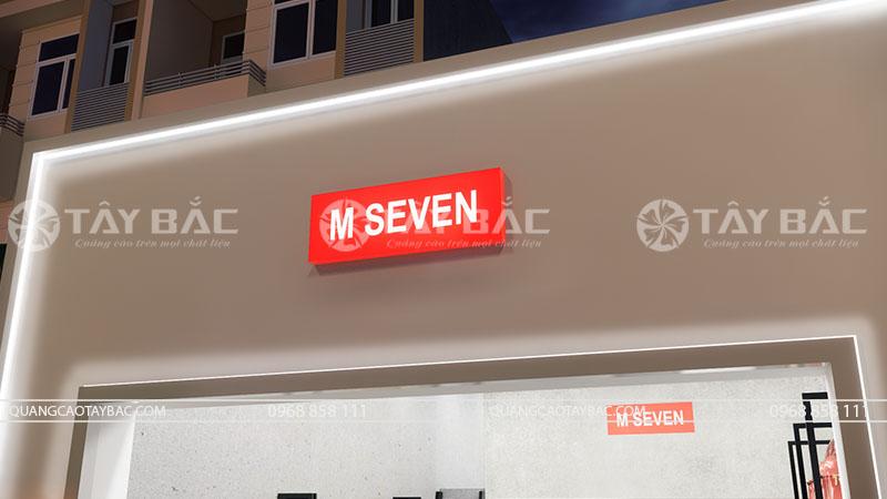 Phối cảnh buổi tối shop thời trang M Seven