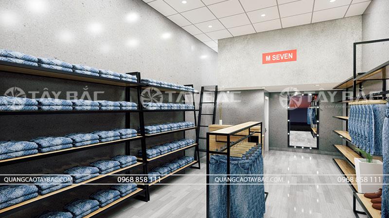 Phối cảnh nội thất cửa hàng thời trang M Seven