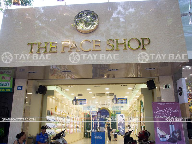 Biển quảng cáo shop mỹ phẩm The Face