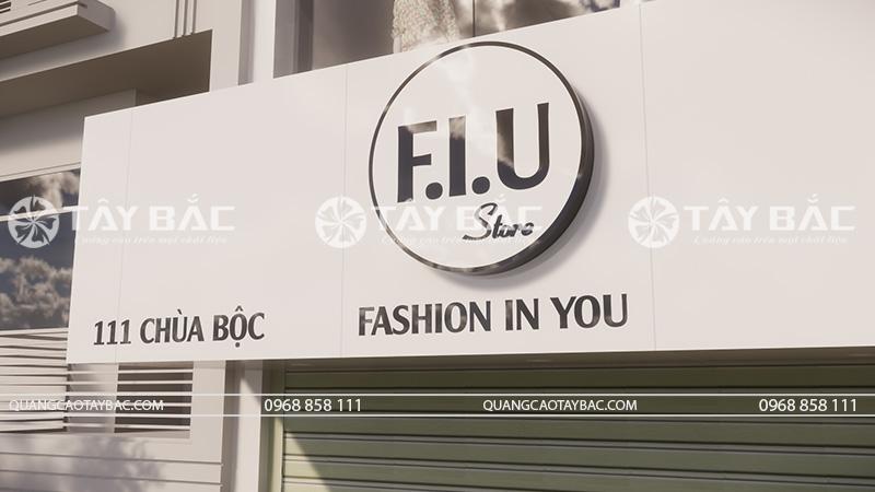 Logo biển quảng cáo thời trang F.I.U
