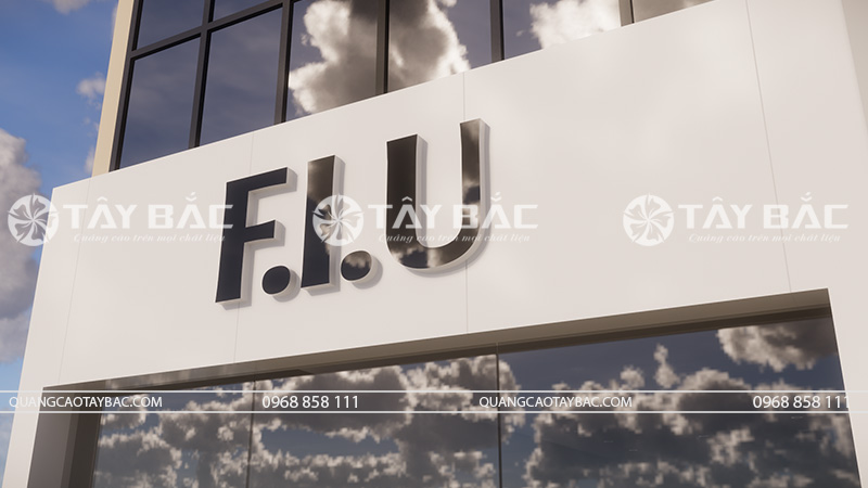 Biển quảng cáo thời trang F.I.U