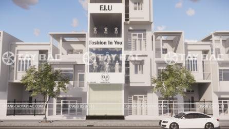 Toàn cảnh mặt tiền biển quảng cáo thời trang F.I.U