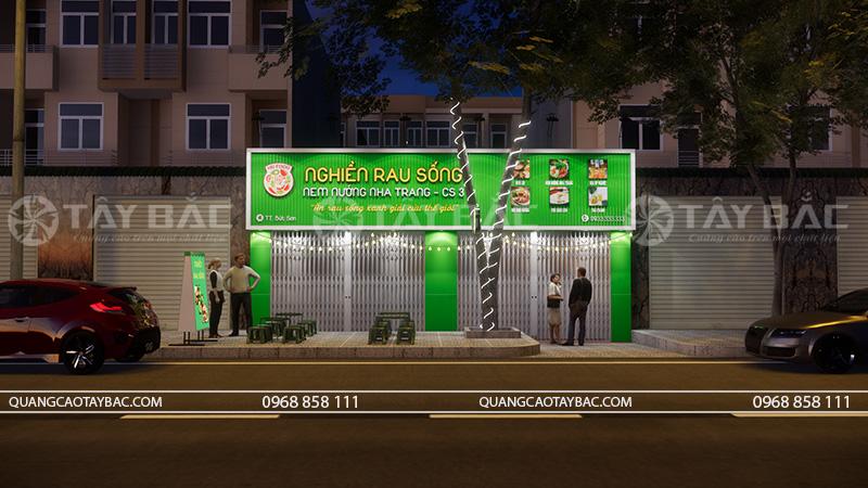 Biển quảng cáo tiệm ăn vặt