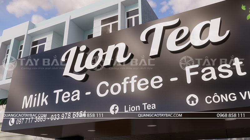 Bộ chữ nổi mặt mica Lion Tea