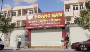 Biển quảng cáo tiệm bánh Hoàng Nam
