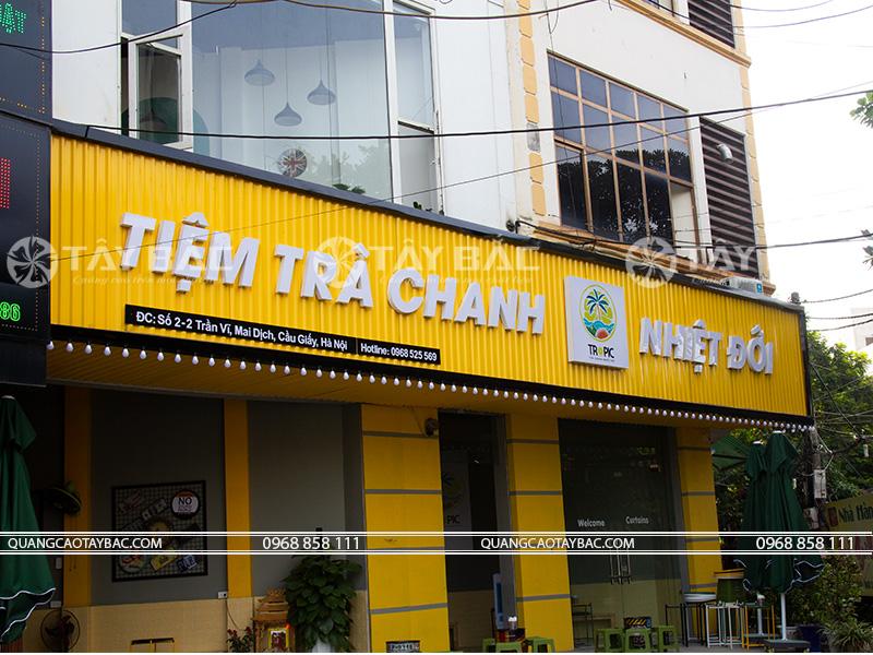 Biển quảng cáo trà chanh nhiệt đới