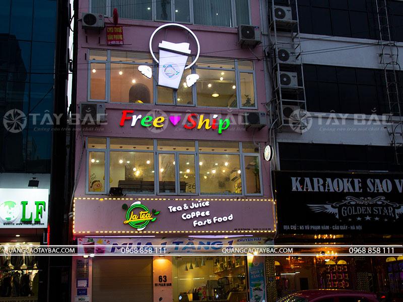 Biển quảng cáo trà sữa Ja Tea