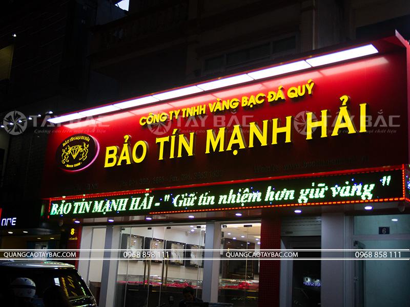 Biển quảng cáo vàng bạc Bảo Tín