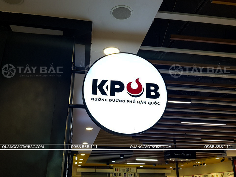 Biển vẫy nhà hàng nướng Kpob
