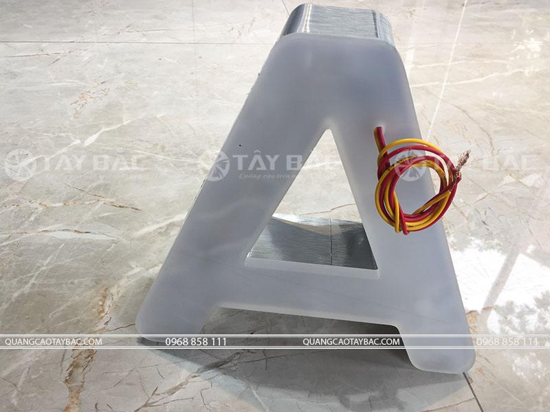 Mặt hậu mẫu chữ quảng cáo NKM-01
