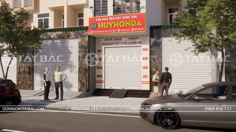 Bảng hiệu nhà đất Huy Honda