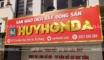 Bộ chữ alu gương bảng hiệu Huy Honda