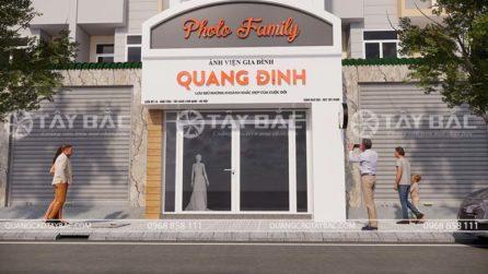 Phối cảnh bộ chữ biển quảng cáo Quang Định