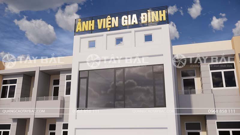 Bộ chữ trên nóc tòa nhà ảnh cưới Quang Định