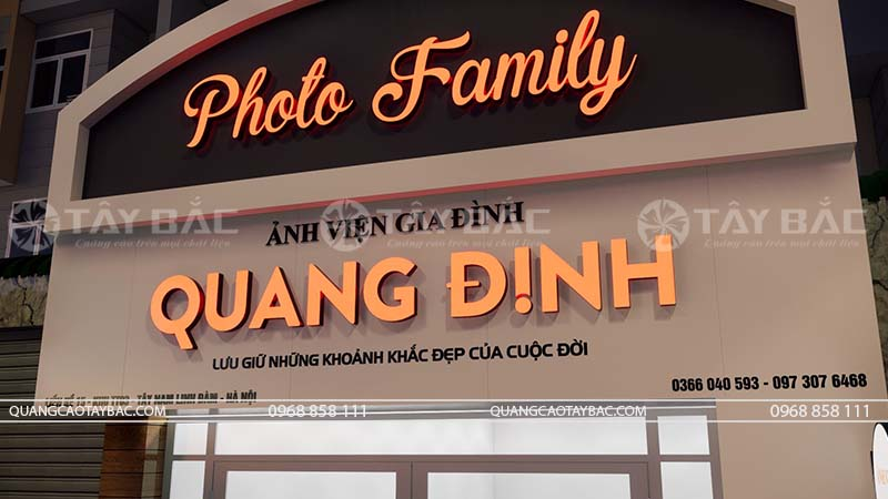 Biển ảnh viện áo cưới Quang Định