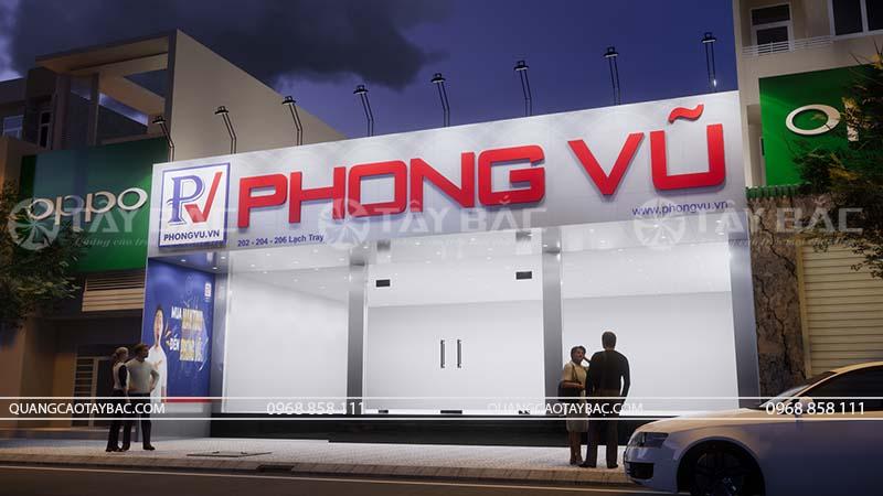 Biển quảng cáo cửa hàng máy tính Phong Vũ