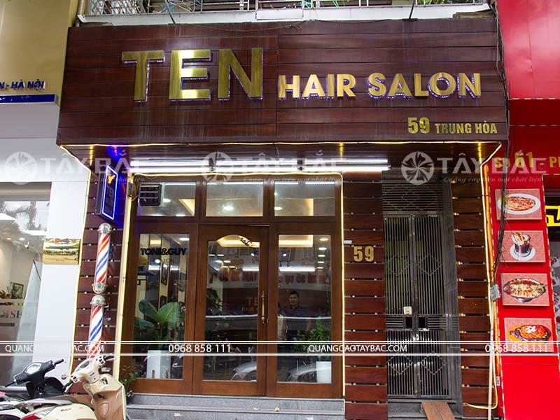 Biển quảng cáo Hair salon Ten
