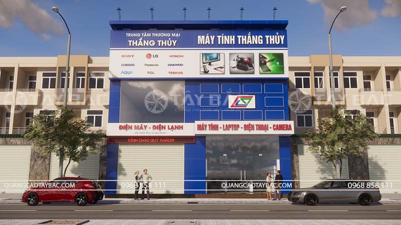 Biển quảng cáo mặt tiền máy tính Thắng Thủy