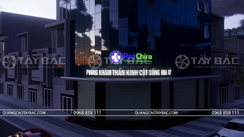 Phối cảnh buổi tối phòng khám Pro Chiro