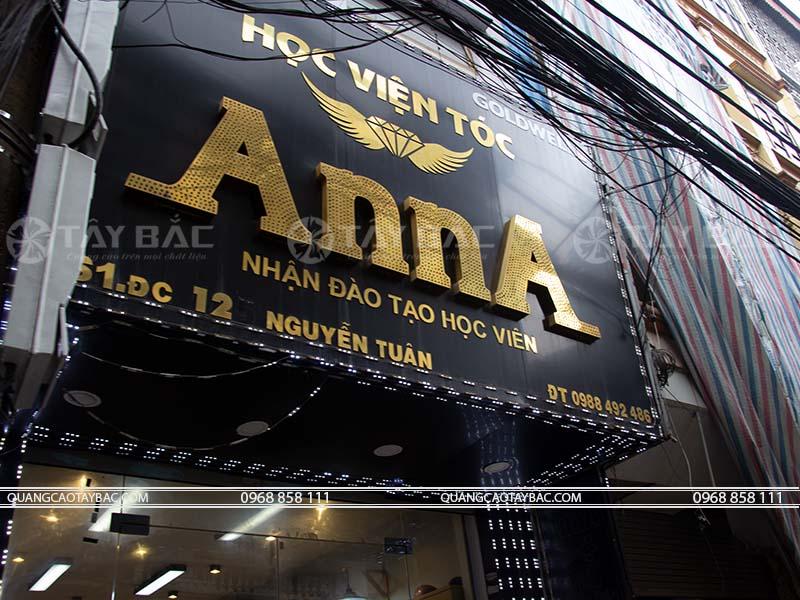 Biển quảng cáo salon tóc Anna